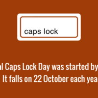Parody holiday - International Caps Lock Day