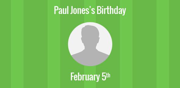 Paul Jones Birthday - 5 February 1950