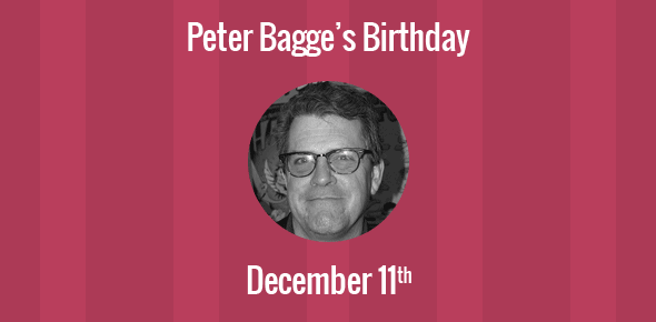 Peter Bagge Birthday - 11 December 1957