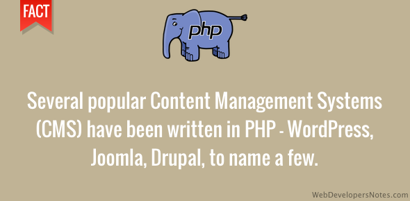 PHP is used on several blogging platforms