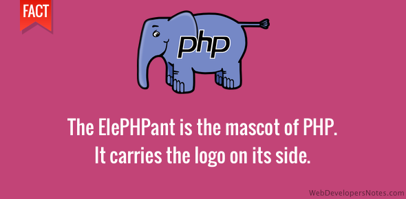 PHP mascot is the ElePHPant