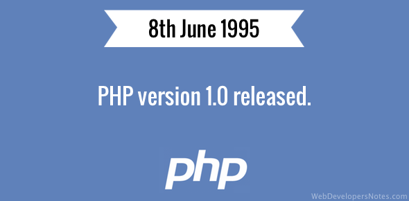 PHP version 1.0 released