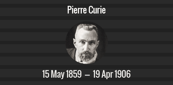 Pierre Curie Death Anniversary - 19 April 1906