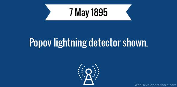 Popov lightning detector shown