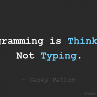 Programming is Thinking, Not Typing.
