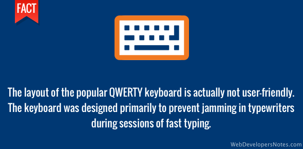 QWERTY keyboard is not user-friendly