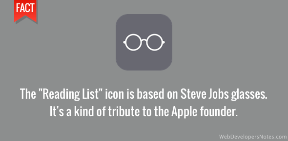 Reading list icon a tribute to Steve Jobs