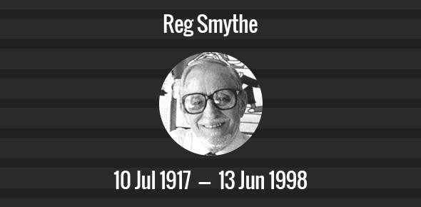 Reg Smythe Death Anniversary - 13 June 1998