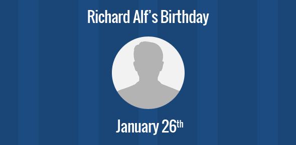 Richard Alf Birthday - 26 January 1952