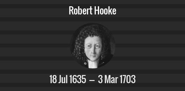 Robert Hooke Death Anniversary - 3 March 1703