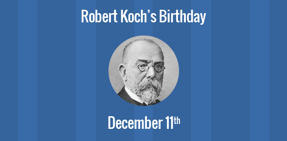 Robert Koch Birthday - 11 December 1843