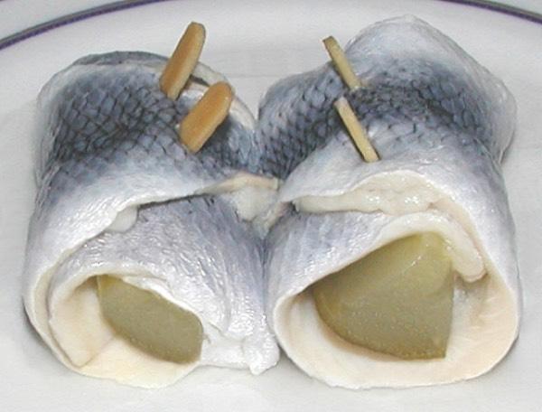Rollmops - pickled herring