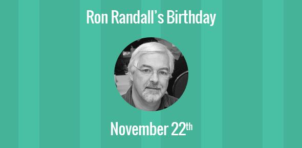 Ron Randall Birthday - 22 November 1956