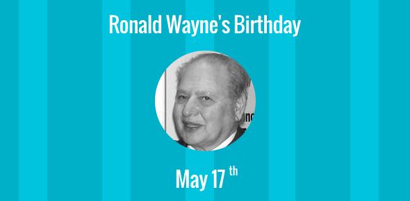 Ronald Wayne's Birthday