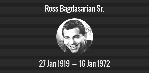 Ross Bagdasarian Sr. death anniversary
