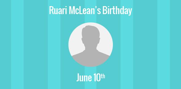 Ruari McLean Birthday - 10 June 1917