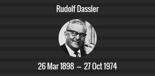 Rudolf Dassler Death Anniversary - 27 October 1974