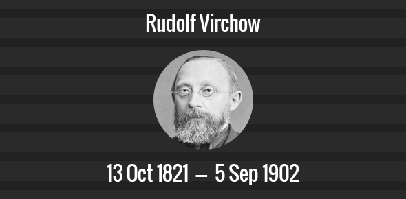 Rudolf virchow death anniversary rudolf virchow facts what did rudolf virchow do cell theory notes pdf