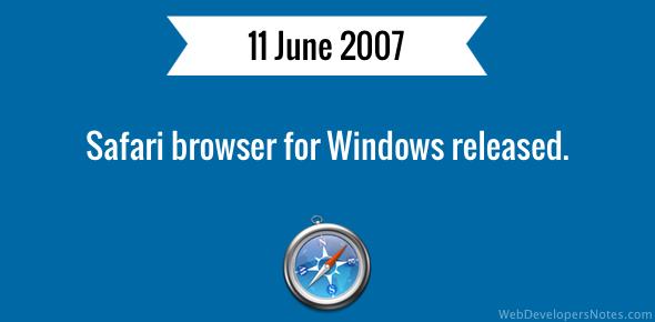 Safari browser for Windows released