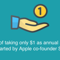 $1 annual salary trend started by Steve Jobs