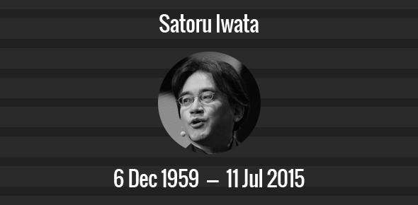 Satoru Iwata Death Anniversary - 11 July 2015