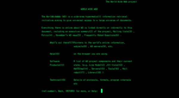 Screenshot of the Line Mode web browser simulator
