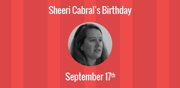 Sheeri Cabral Birthday - 17 September 1978