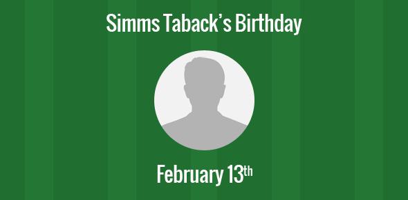 Simms Taback Birthday - 13 February 1932