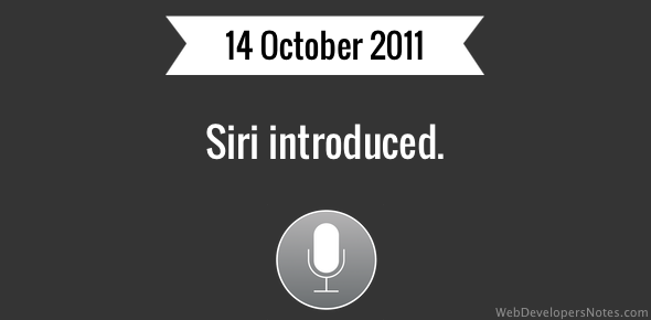 Siri introduced