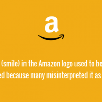 The arrow (smile) in the Amazon logo used to be animated. This was removed because many misinterpreted it as a phallic symbol.