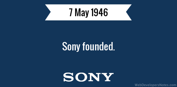 Sony founded