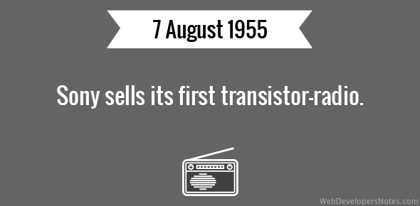 Sony sells its first transistor-radio