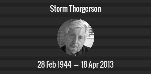 Storm Thorgerson Death Anniversary - 18 April 2013