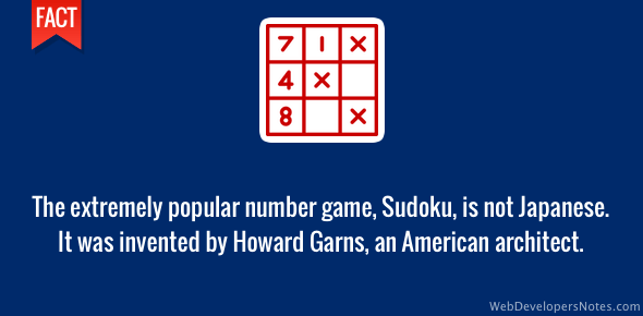 Sudoku puzzle is not Japanese