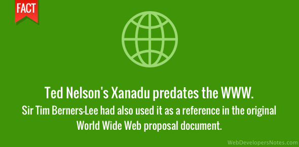 Ted Nelson's Xanadu was before the WWW
