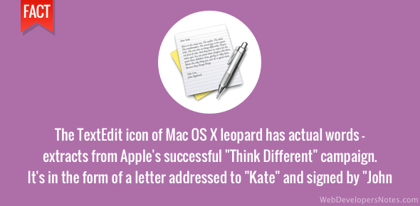 TextEdit icon in Leopard was a letter