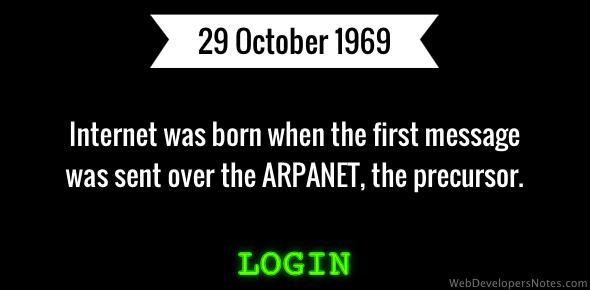 The Internet was born