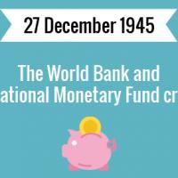 The World Bank and International Monetary Fund created.