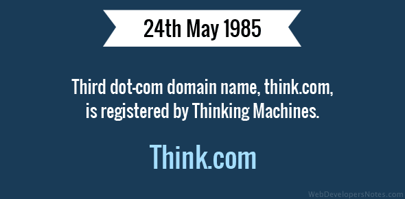 Third dot-com domain name registered