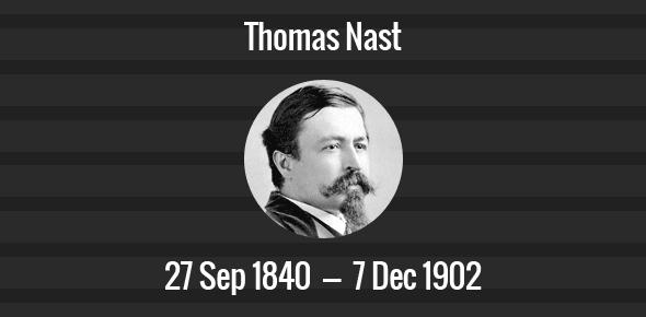Thomas Nast Death Anniversary - 7 December 1902