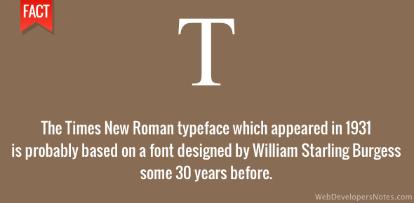 Times New Roman based on older typeface?