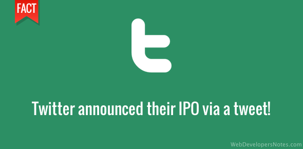 Twitter IPO was announced via a tweet