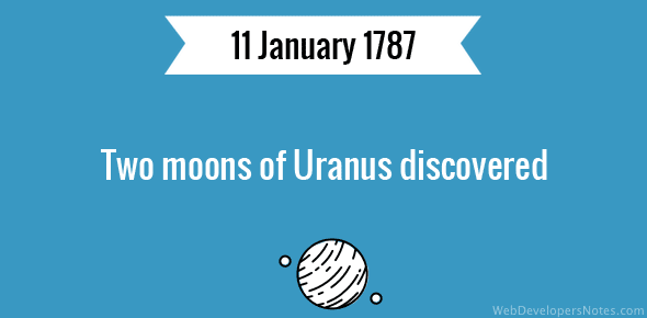 Two moons of Uranus discovered