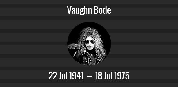 Vaughn Bodē Death Anniversary - 18 July 1975