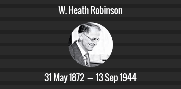 W. Heath Robinson Death Anniversary - 13 September 1944