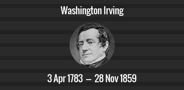 Washington Irving Death Anniversary - 28 November 1859