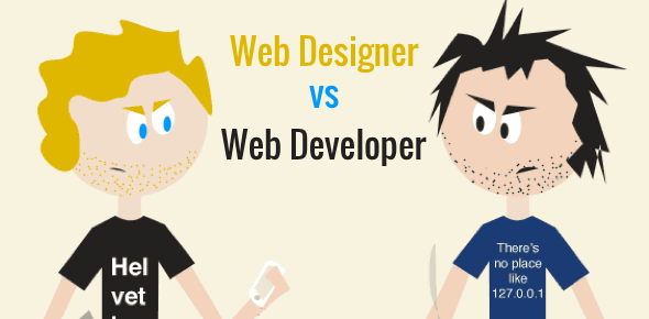 Web designer vs. web developer
