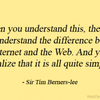 When you understand this, then you will understand the difference between the Internet and the Web. And you will realize that it is all quite simple!
