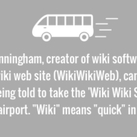 Why did he name the site Wiki?