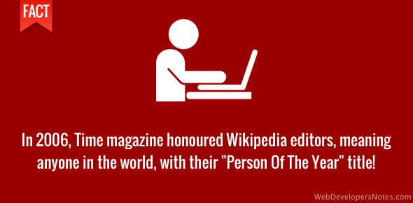 "Wikipedia editors - Time's ""Person of the Year"""